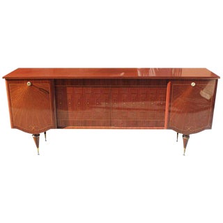"French Art Deco Sideboard / Buffe / Ba Macassar Ebony ""Sunray"" circa 1940s."