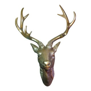Crate and Barrel Style Stag Head Wall Art