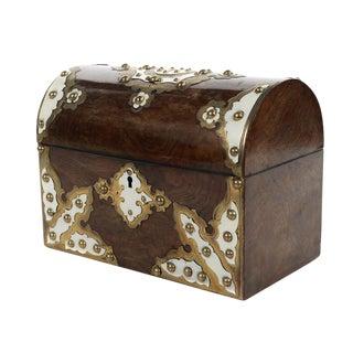 19th C. English Domed Walnut Document Box