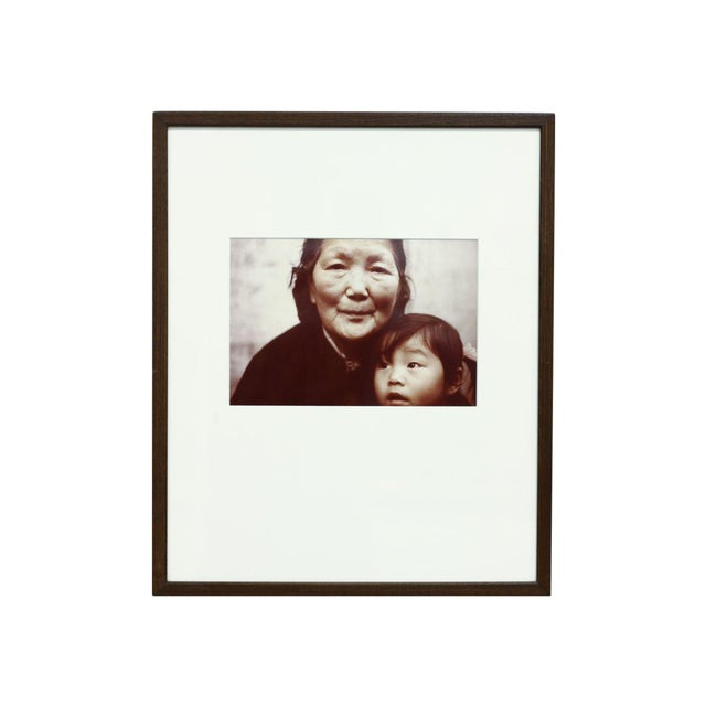 Image of Framed Photograph of a Child and Grandmother