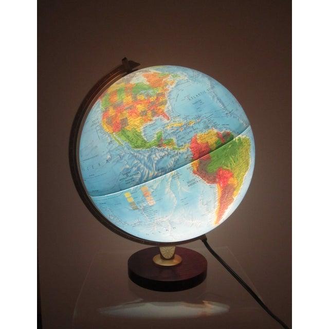 Image of Vintage Light World Globe that Spins