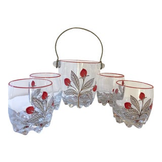 Italian Ice Bucket and Glasses - Set of 5