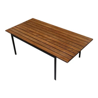 "Early ""T"" Slat Bench / Coffee Table by Florence Knoll"