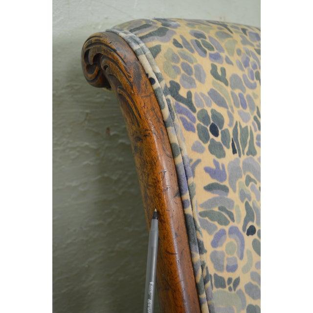 Antique Victorian Walnut Frame Slipper Chair - Image 6 of 11