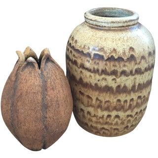 Vintage Studio Pottery Vases - A Pair