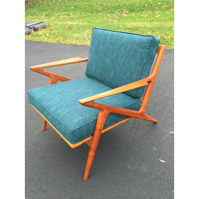 Teak poul jensen selig z chair new upholstery chairish - Poul jensen z chair ...