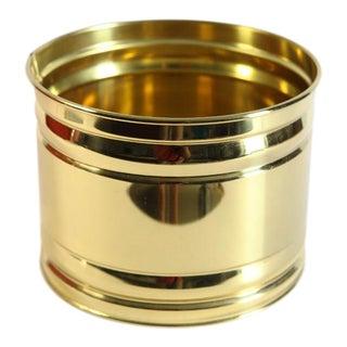 Bristol Round Brass Planter