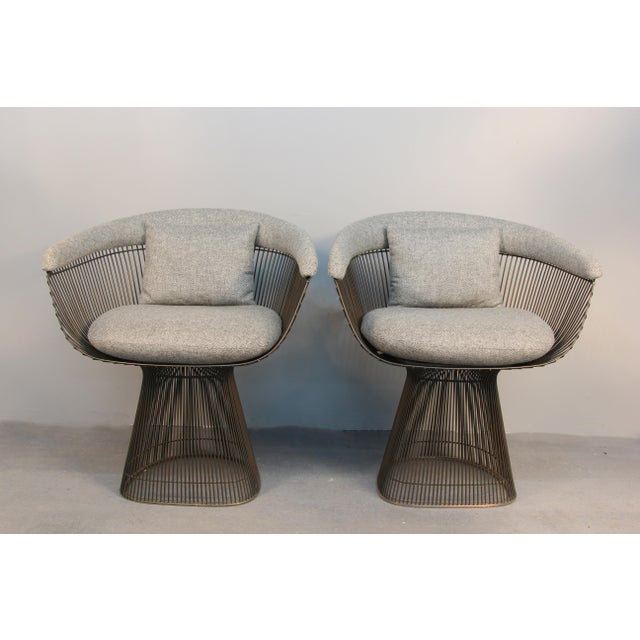 Image of Warren Platner Bronze Side Chairs - A Pair