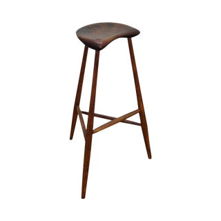 Wharton Esherick Signed Walnut & Oak Stool