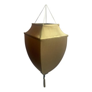 Fortuny Style Raw Silk Hanging Pendent Lampshade