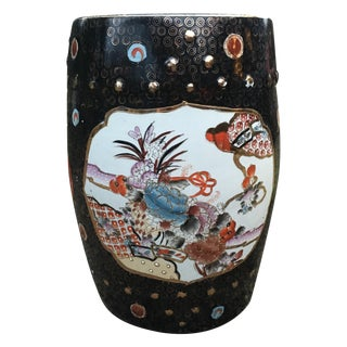 Antique Chinoiserie Ceramic Garden Stool