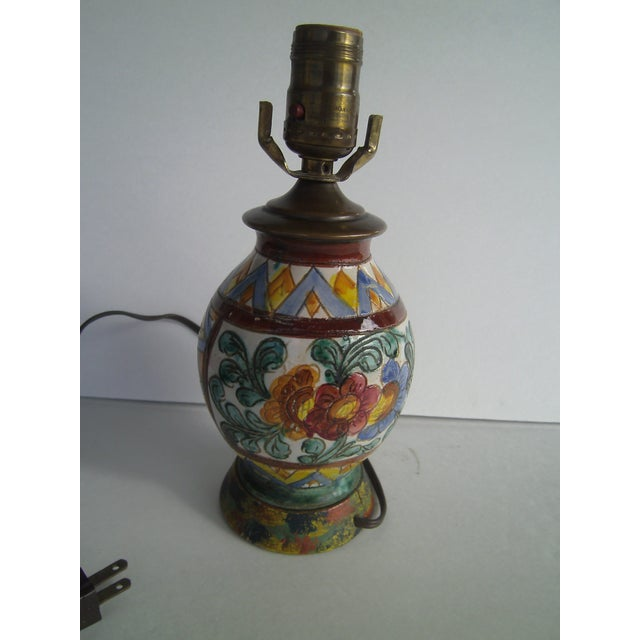 Early 20th Century Italian Pottery Lamp - Image 5 of 10