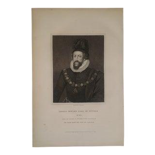 1825 Vintage English Earl of Norfolk Portrait Engraving