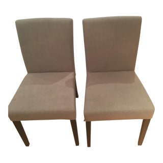 Crate & Barrel Lowe Upholstered Chairs - Pair