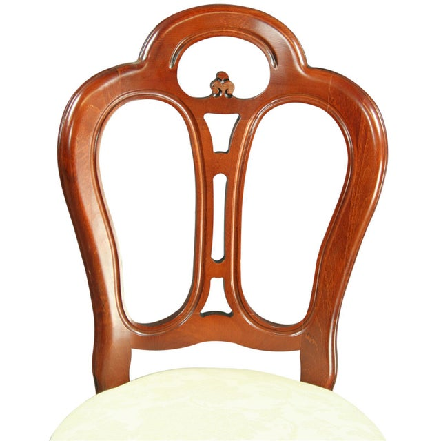 Large, New Italian Mahogany Rococo Dining Chair - Image 6 of 8