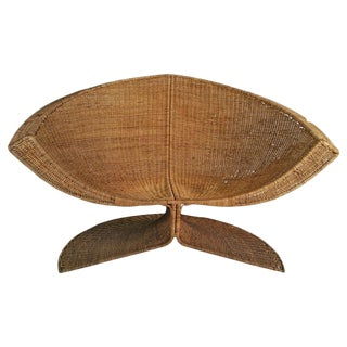 "Danny Ho Fong Wicker ""Lotus"" Lounge Chair"