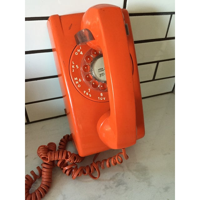 Vintage Orange Wall Phone - Image 3 of 12