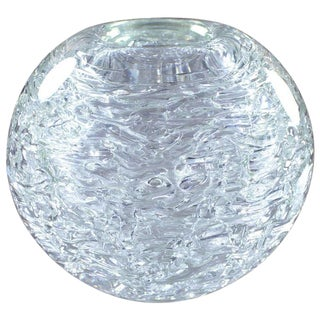 Heavy Glass Spherical Vase by Frantisek Vizner