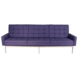 Newly Upholstered Knoll Sofa on Chrome Base