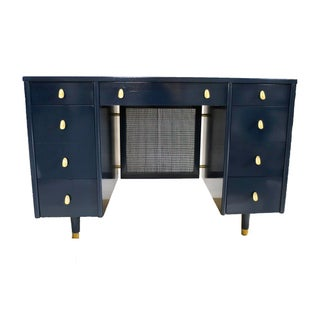 Navy Midcentury Desk