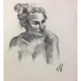 Charcoal Drawing of Female