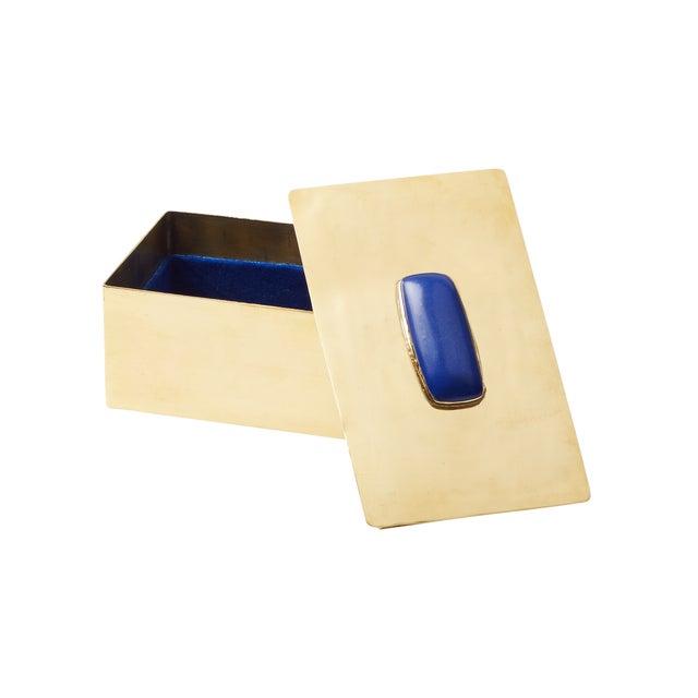 Rectangular Lapis Gemstone Box - Image 2 of 2