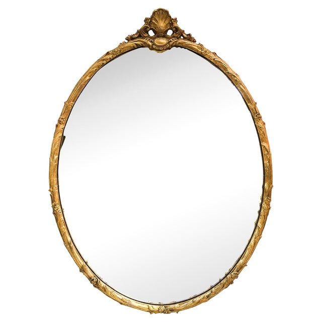 Oversized Hand-Carved Gold Mirror - Image 1 of 10