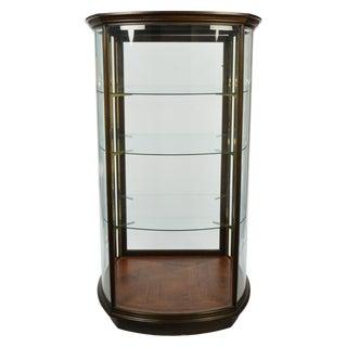 Custom-Made Curved and Beveled Glass Vitrine, Display Cabinet