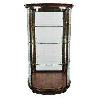 Custom-Made Curved and Beveled Glass Vitrine, Display Cabinet