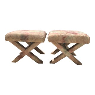 Vintage Hollywood Regency X Benches - A Pair