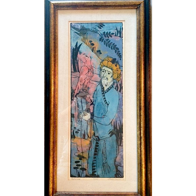 Louise August Vintage 1963 Watercolor - Image 2 of 5