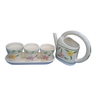 Ceramic Watering Cans & Pots - Set of 5