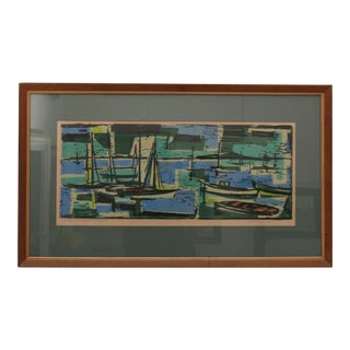 Mid-Century Modern Abstract Lithograph