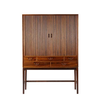 Ole Wanscher Rosewood Tambour Cabinet