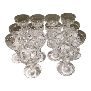 Vintage Handcut Cordial Glasses - Set of 14