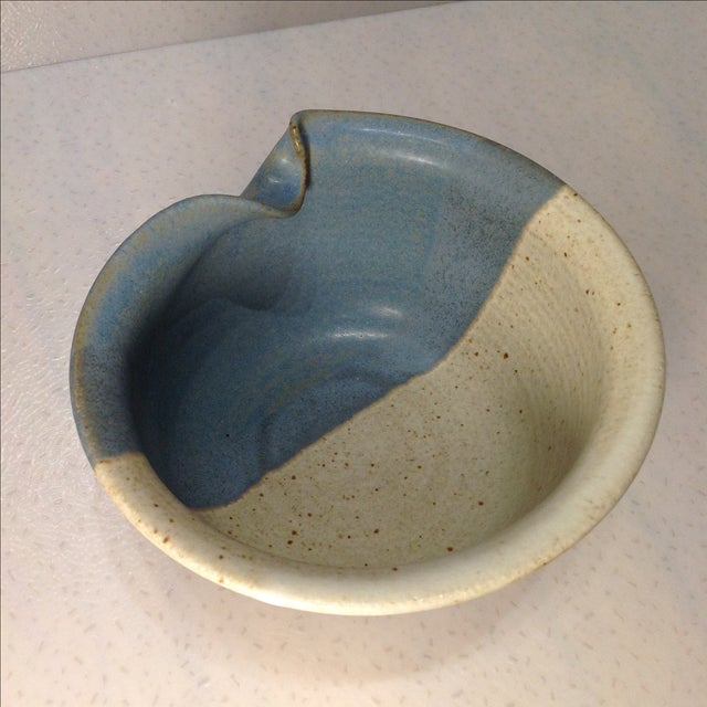 Image of Vintage Handmade Pinched Bowl