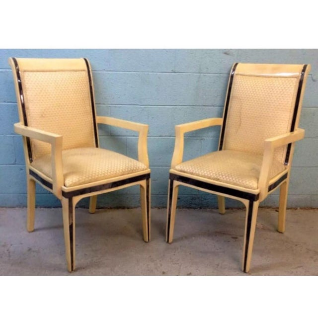 Enrique E. Garcel Columbian Goatskin Chairs - Set of 6 - Image 3 of 6
