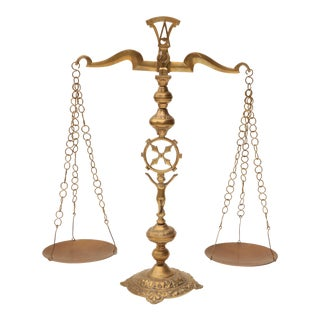 Brass Balance Scales of Justice