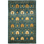 Image of New Arts & Crafts Hand-Knotted Rug - 6′ × 9′4″