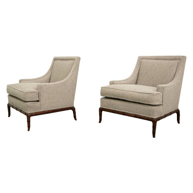 Bamboo Base Mid-Century Lounge Chairs - A Pair - Image 1 of 7