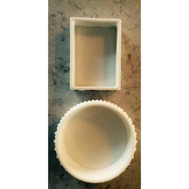 Image of Milk Glass Vanity Set