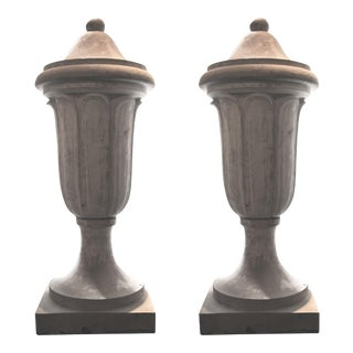 Extra Large Terra Cotta Finials - A Pair