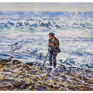 'Man & Dog & Sea' by Simon Michael