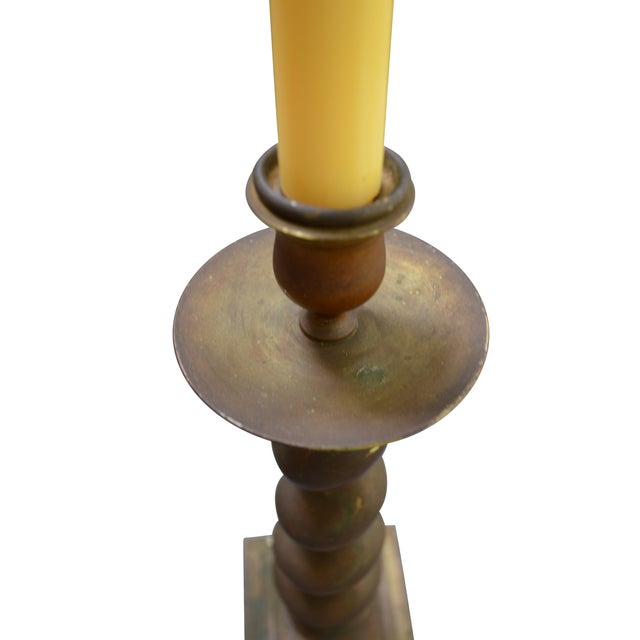 Vintage Brass Candlesticks - Pair - Image 3 of 8