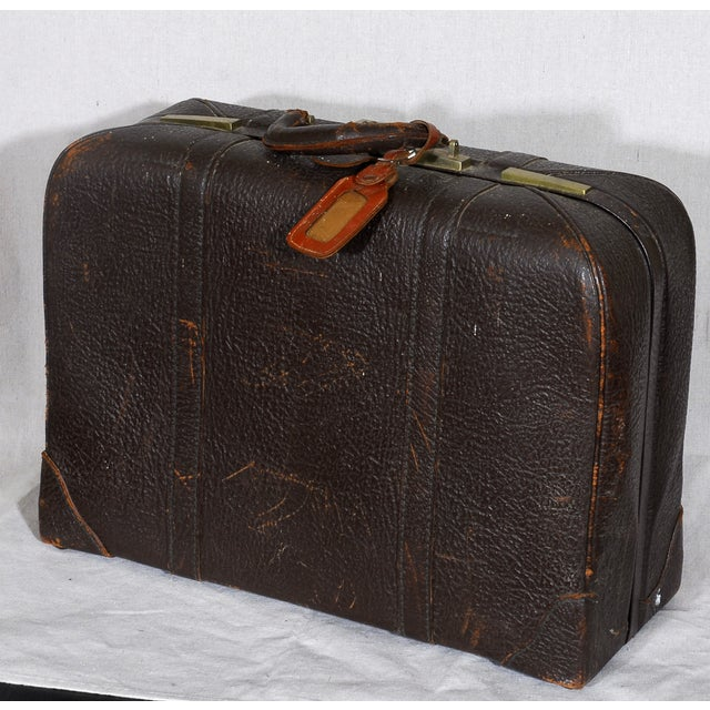 Image of C. 1940s Vintage Leather Briefcase