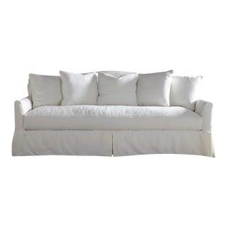 Joss & Main White Slipcovered Sofa