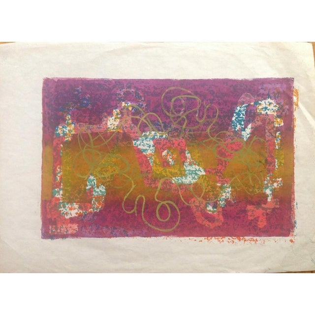 Mid-Century Abstract Silkscreen Estelle Siegelaub - Image 2 of 7