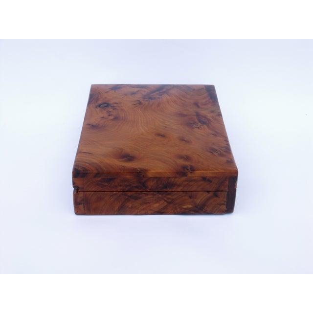 Decorative Juniper Burl Wood Box - Image 7 of 8