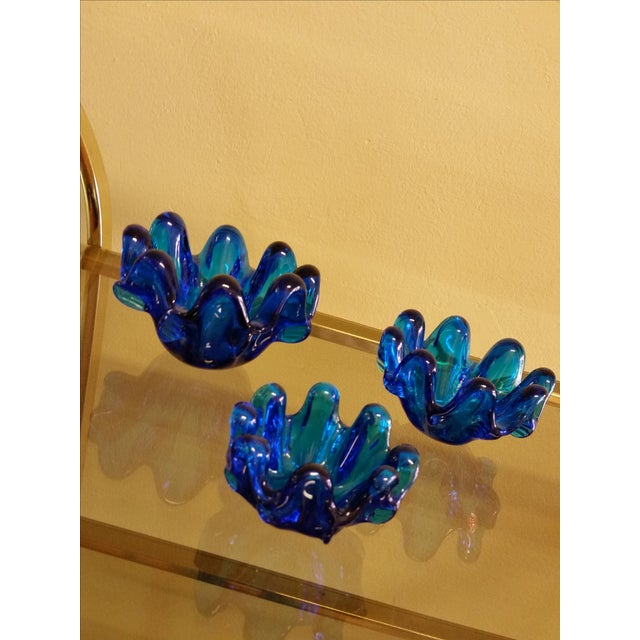 Empoli Italy Graduated Art Glass Bowls - Set of Three - Image 3 of 7