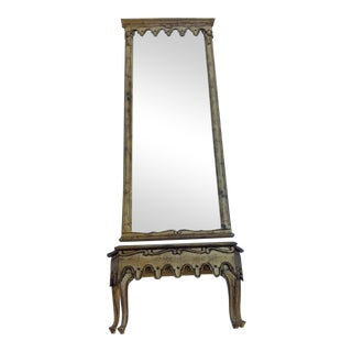 Labarge Italian Mirror & Console Table